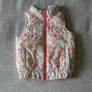 Floral Oshkosh puffer vest